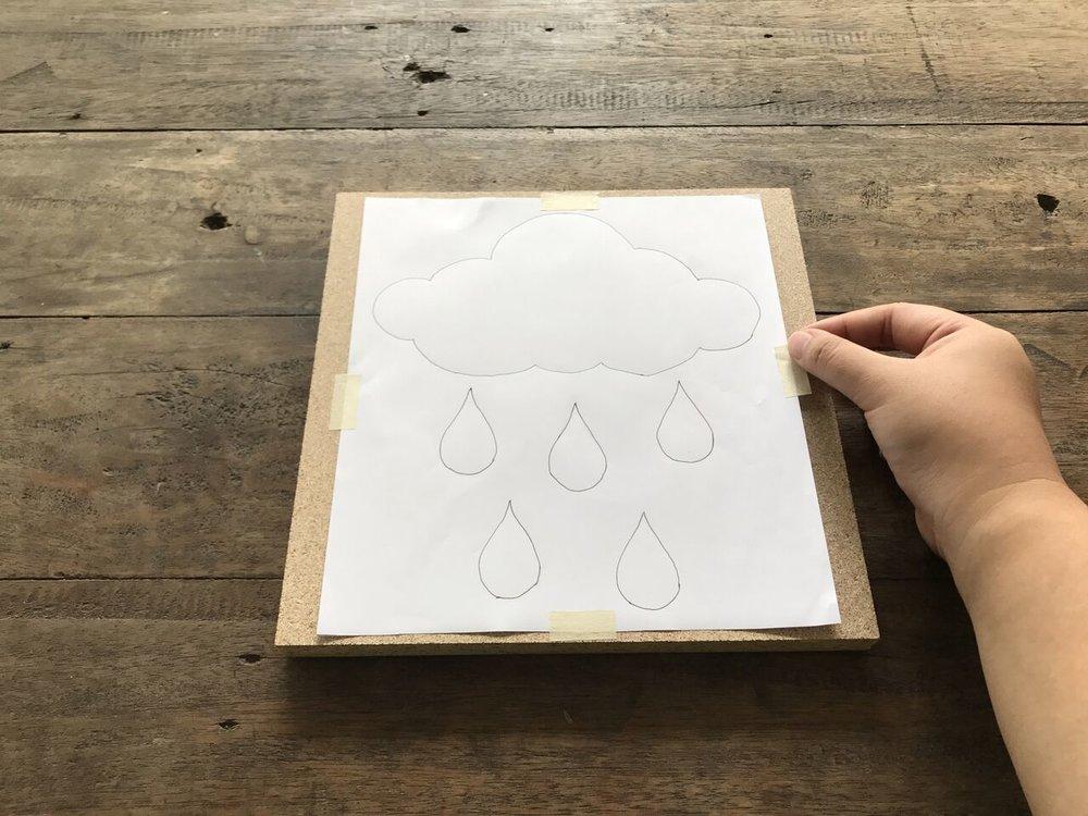 MELA ABESAMIS: RAIN CLOUD WITH RAINDROP STRING ART — DMC Philippines