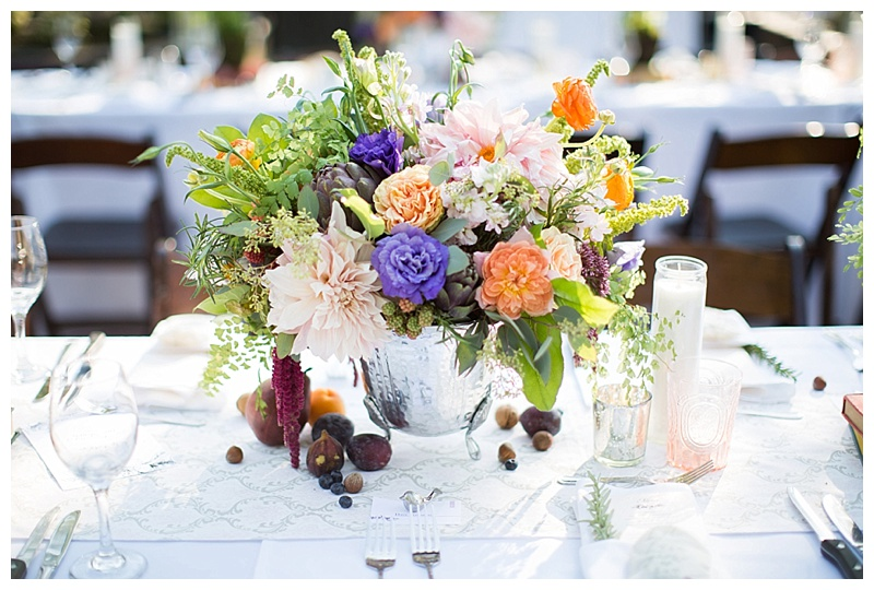 portland oregon wedding centerpiece