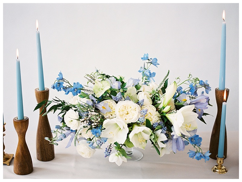 Wedding Florist Portland blue pantone