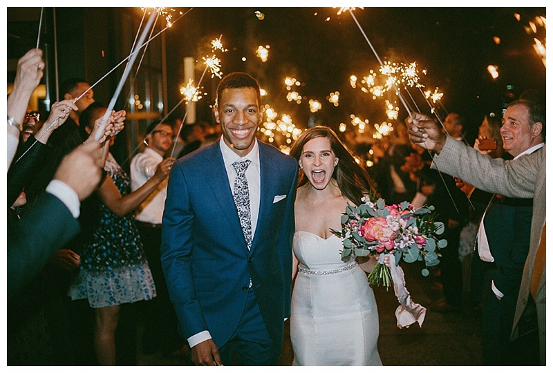 Oregon Wedding Florist Bride Groom Sparkler exit