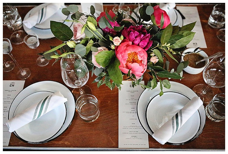 Coopers Hall Wedding Reception Portland Florist