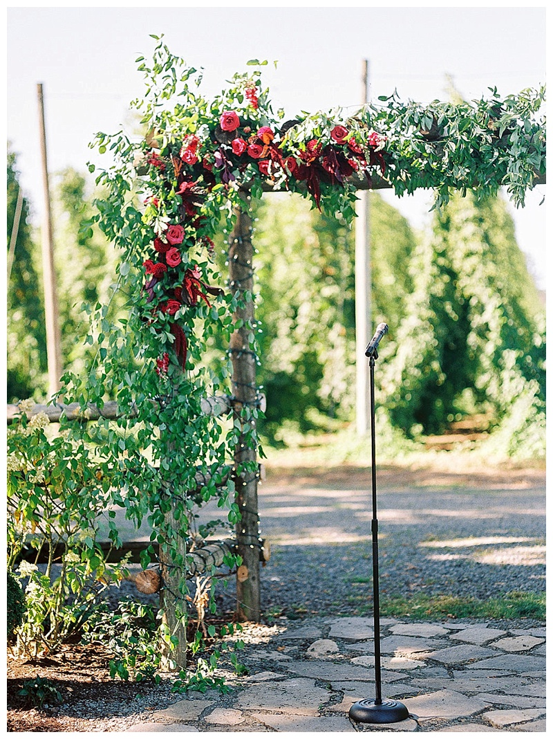 Wedding Florist Oregon Arch