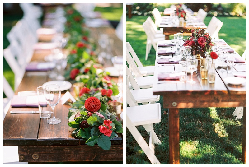 Oregon's Best Wedding Florist Reception Tables