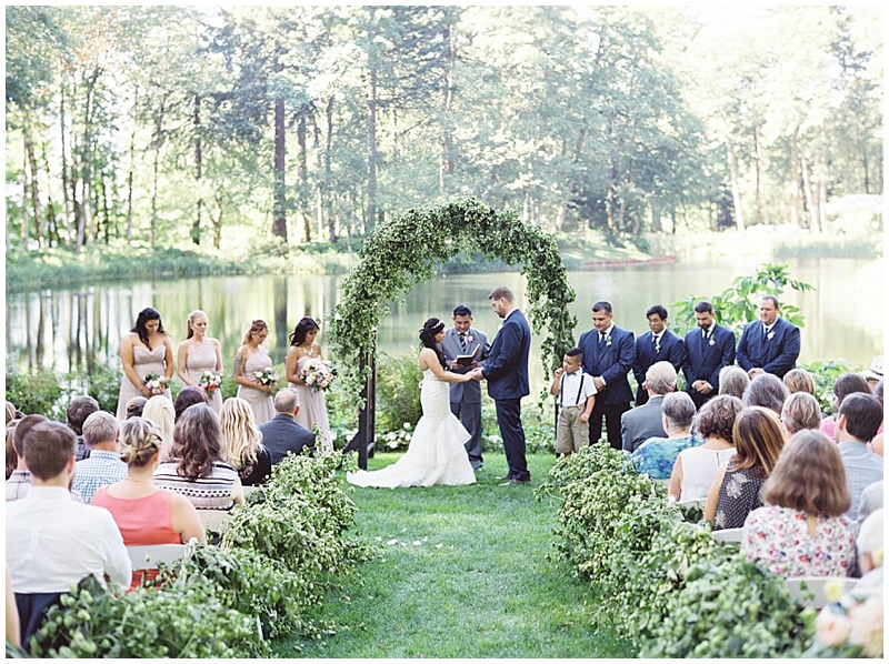 Bridal Veil Lakes Florist Ceremony
