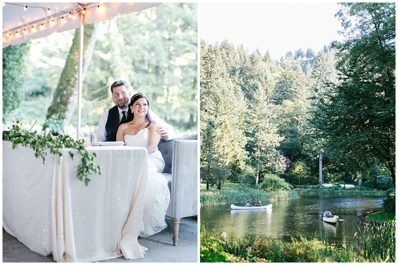 Florist Bridal Veil Lakes Oregon Wedding Reception
