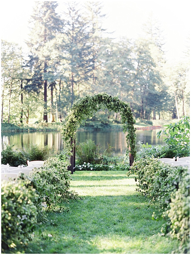 Bridal Veil Lakes Wedding Florist Oregon Ceremony Arch