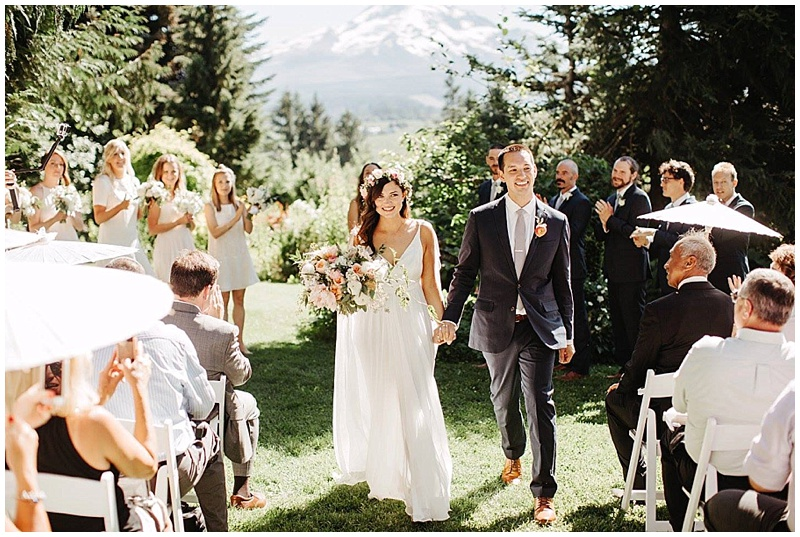 Mt. Hood Organic Farms florist Oregon ceremony