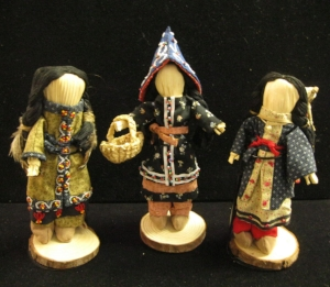 Anne's first three 18th century Abenaki dressed cornhusk dolls - MKIM giftshop.jpg