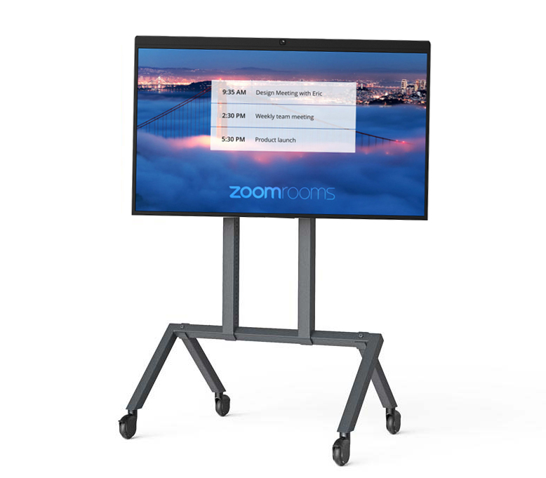 Mobile Cart - Room Size: 2-5 peopleThe Mobile Cart is equipped with a digital whiteboard. You can start a whiteboard session, annotate and then invite others on desktop or mobile to view or co-annotate. You can save the whiteboard image and annotations at any time by sending the image file to email recipients you specify.You have the option (in addition to touch control) of an iPad at the table to be used as a room controller along with another optional iPad at the door as the room scheduling display.