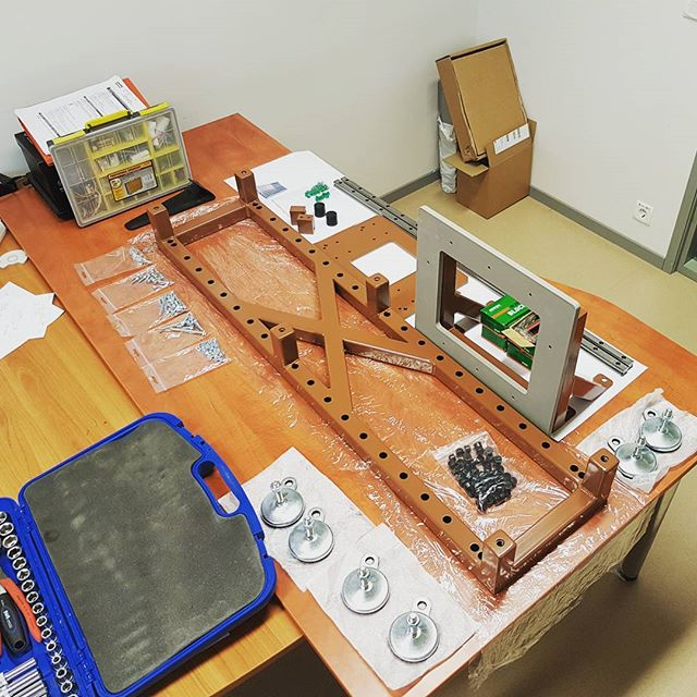 Prototype testbench for educational studies.  #testbench #prototype #assembly #hiwin #shinyparts #markeer #engineering