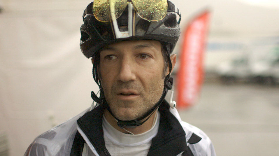 A long-time recreational and competitive cyclist, Fogel started off making a documentary about blood doping and gaming the system. Photo courtesy Bryan Fogel.