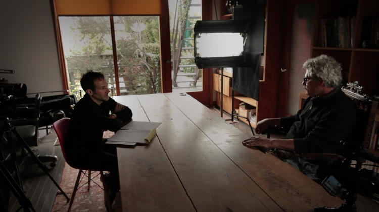 Bryan Fogel interviewing Russian anti-doping expert Grigory Rodchenkov during the making of ICARUS. Photo courtesy Bryan Fogel.