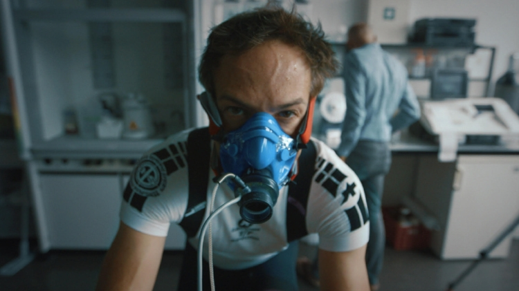 Bryan Fogel in training for the Haute Route - a grueling, week-long bicycle race in France. Photo courtesy Bryan Fogel.