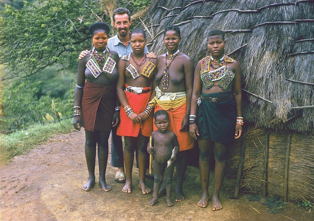 Four girls for every guy in deepest, darkest Africa - 1959.