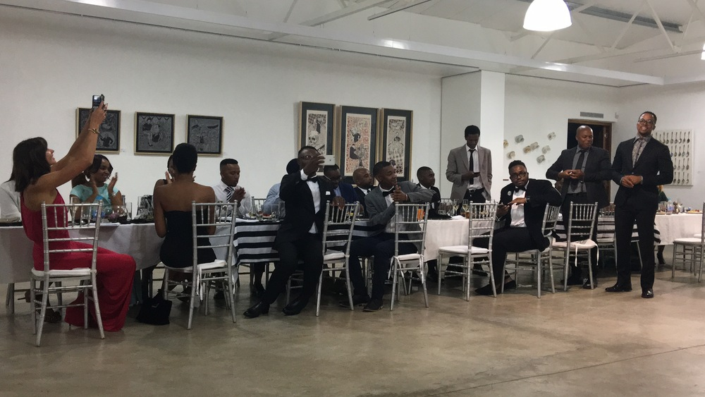 Long table dinner courtesy of Investec to celebrate their partnership with Maps Maponyane