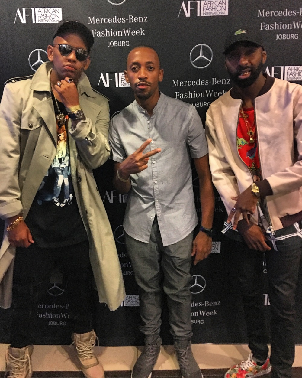 Caught up with Da LES and Riky Rick at David Tlale's show during Mercedes Benz Fashion Week