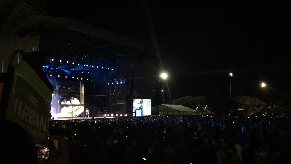 Chris Brown performing at Mabala Noise event for Durban July