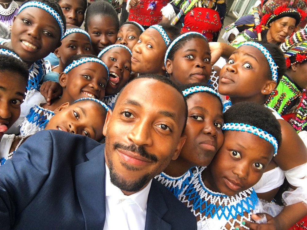 Selfie with traditional Zulu dancers