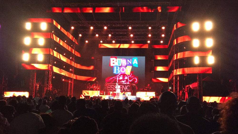 Burna Boy performance at Moses Mabhida Stadium