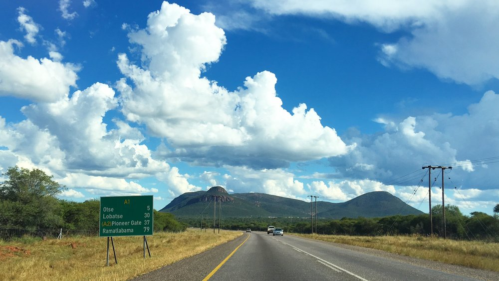 Road trip to Mogobane Dam