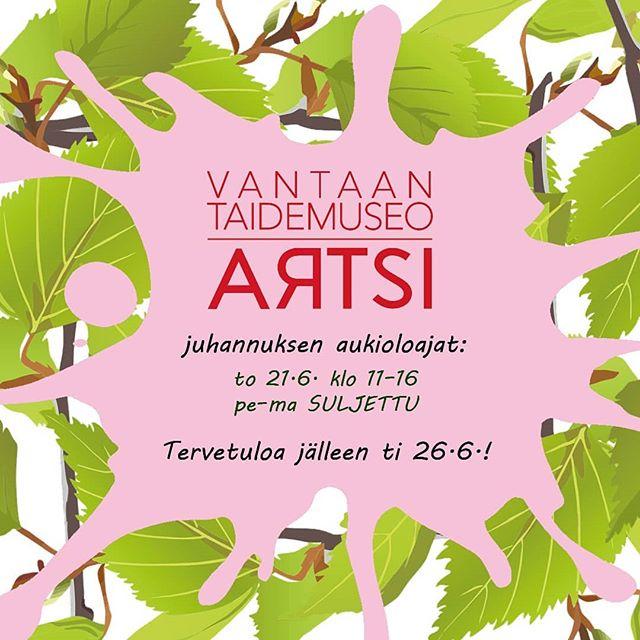 Hyvää keskikesän juhlaa!  #artsi #artsimuseo #vantaankaupunki  #kulttuuria_vantaalla #myyrmäki