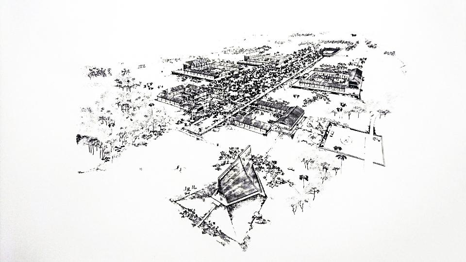 圖/東海大學初期規劃願景。陳其寬先生手稿