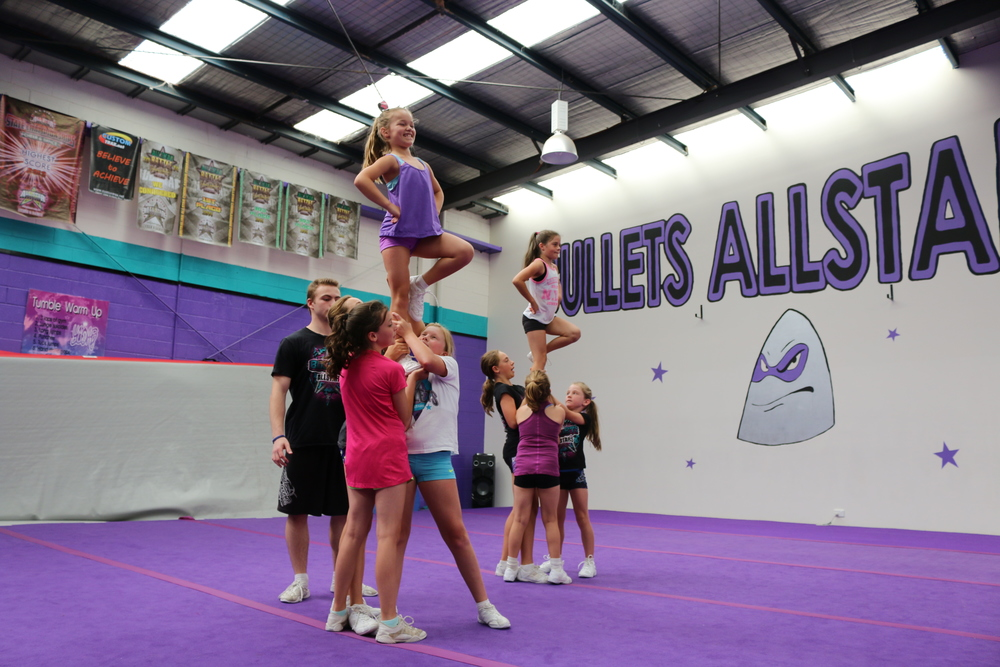 Cheerleading cheer tumbling recreational classes