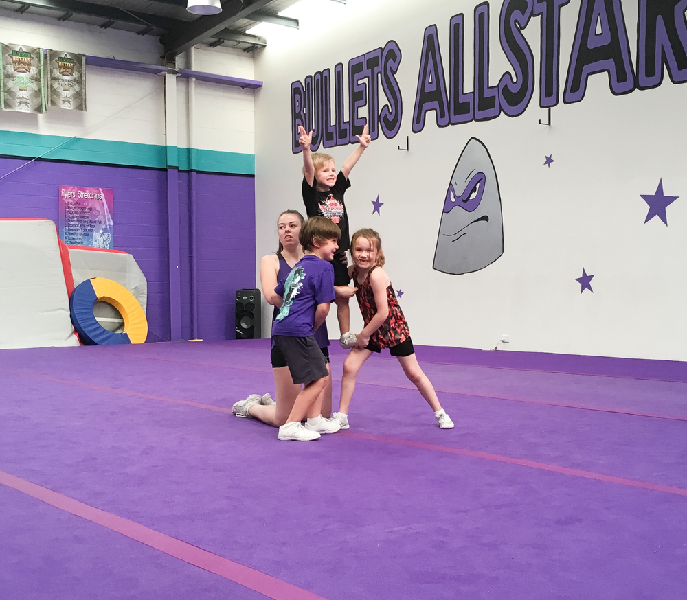 Cheerleading for kids Melbourne Bullets Allstars