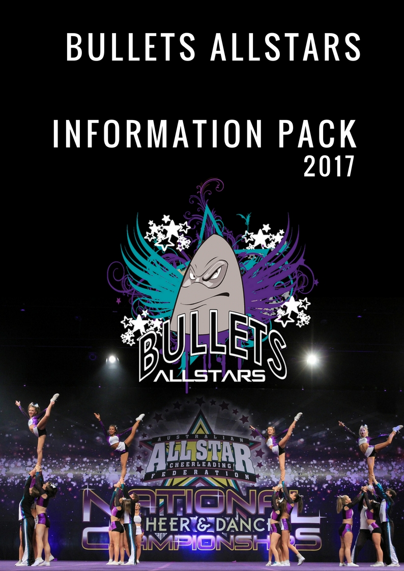 Bullets Allstars Cheerleading Melbourne Information pack 2016