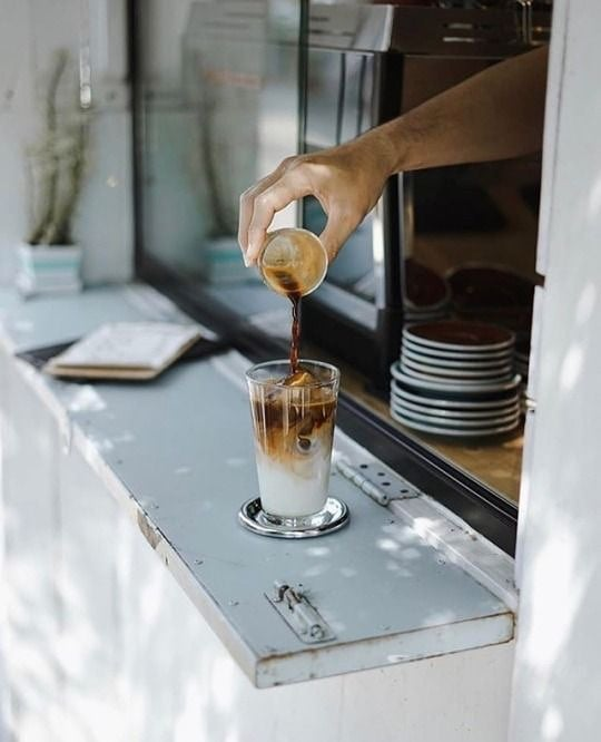 Here's to another week of bending what you've got, yoga in your spot and pouring like it's hot. ☕️ 📸: @bonnaphapol