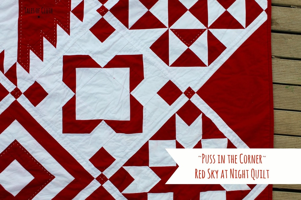 Puss in the Corner - Red Sky at Night Quilt — Tales of Cloth ... : quilt meaning in english - Adamdwight.com