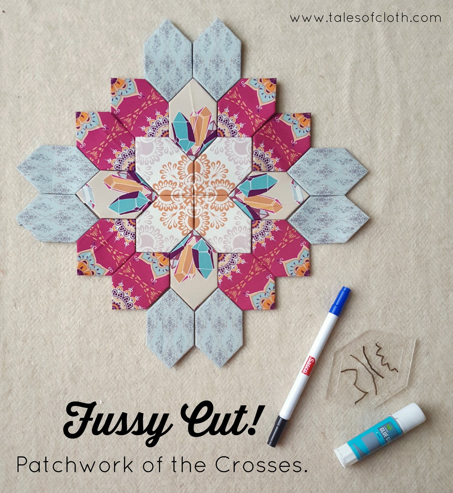 How To Fussy Cut A Lucy Boston Quilt Along Tales Of Cloth