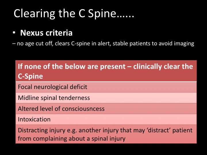 C Spine Clearance Learned
