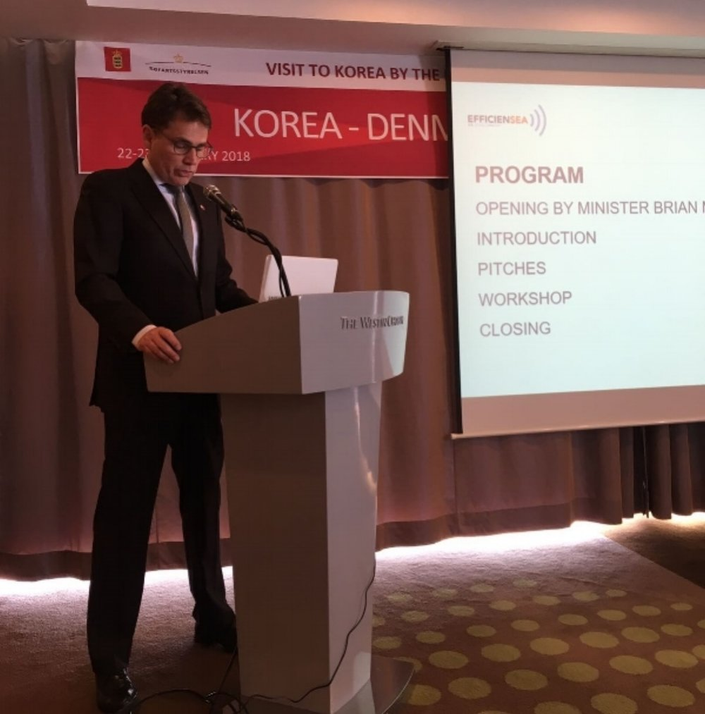 Brian Mikkelsen opening InnovationCamp in Busan, South Korea