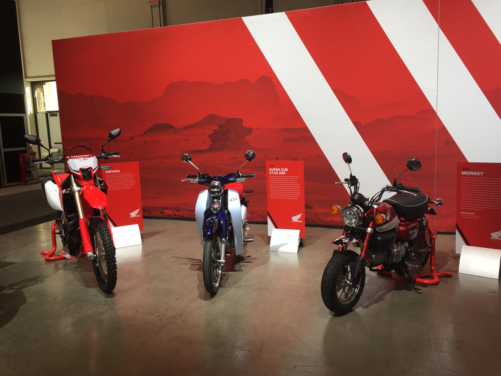 Motorcycle Area, Honda+Acura & GPJ, 2018