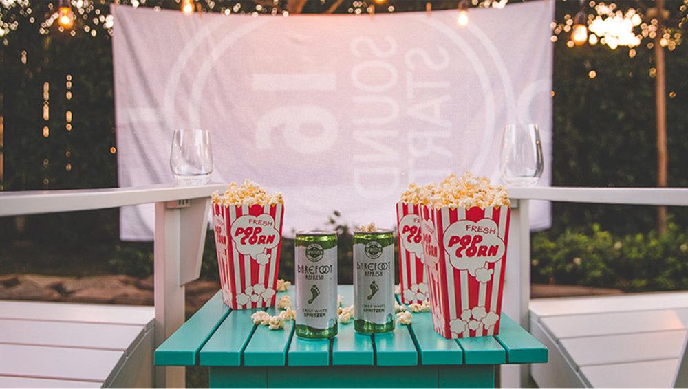Barefoot Backwyard Movie Night, Blog Post Content, Barefoot Wines, E&J Gallo Winery, 2016