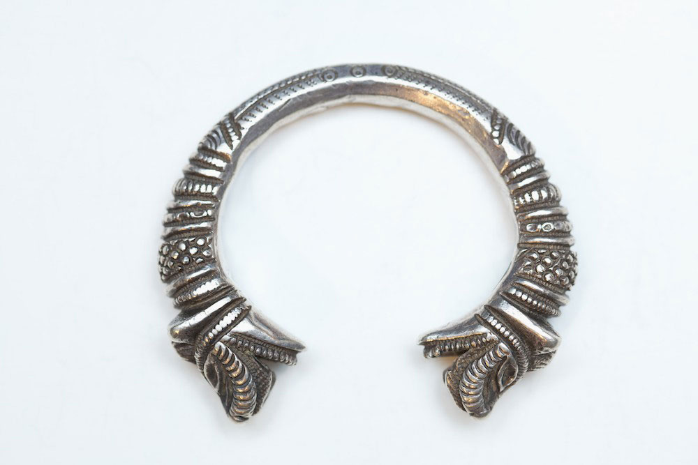 Silver bracelet, India, turn-of-the-century.