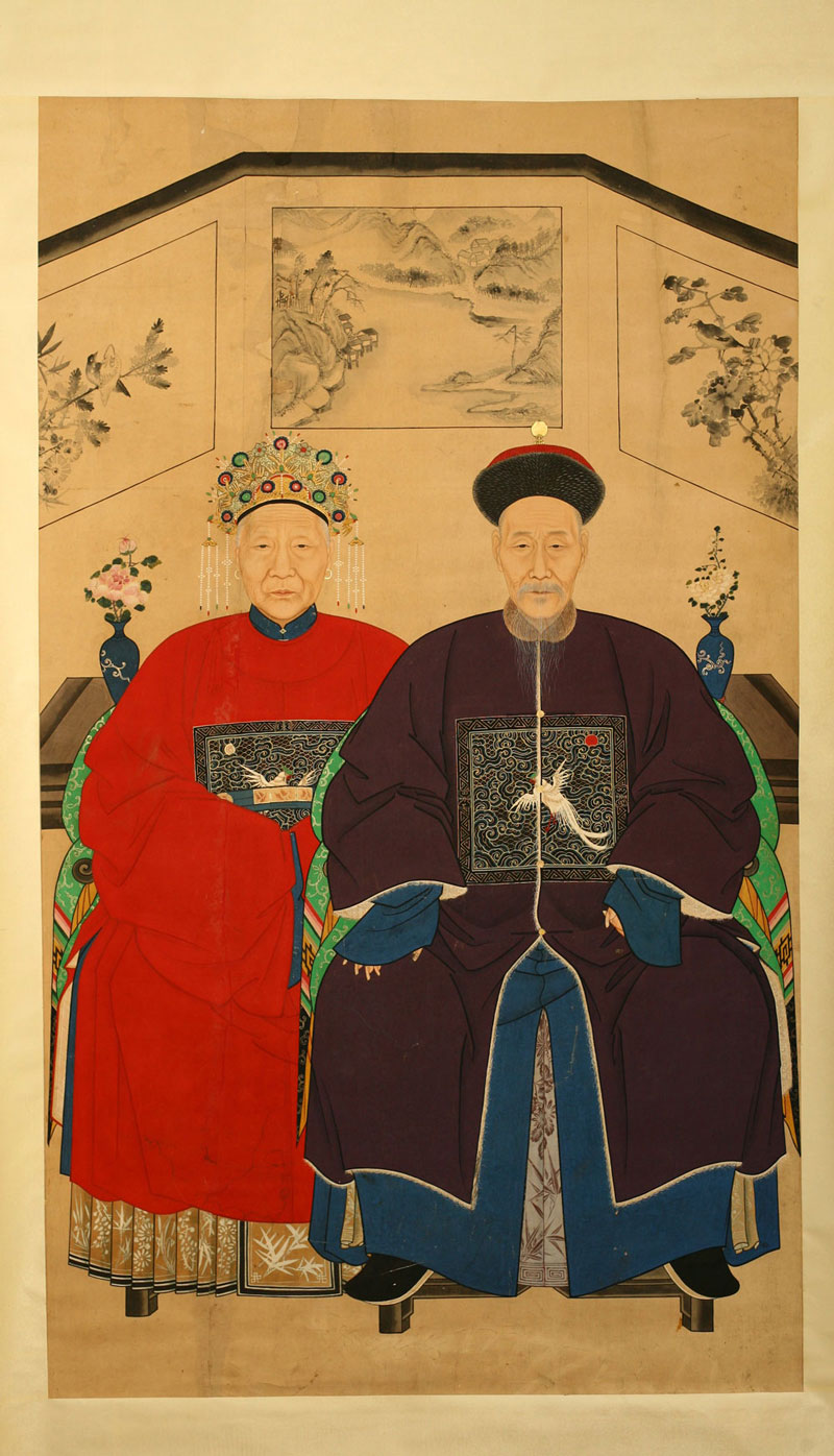 Ancestor painting, China, 19th century.
