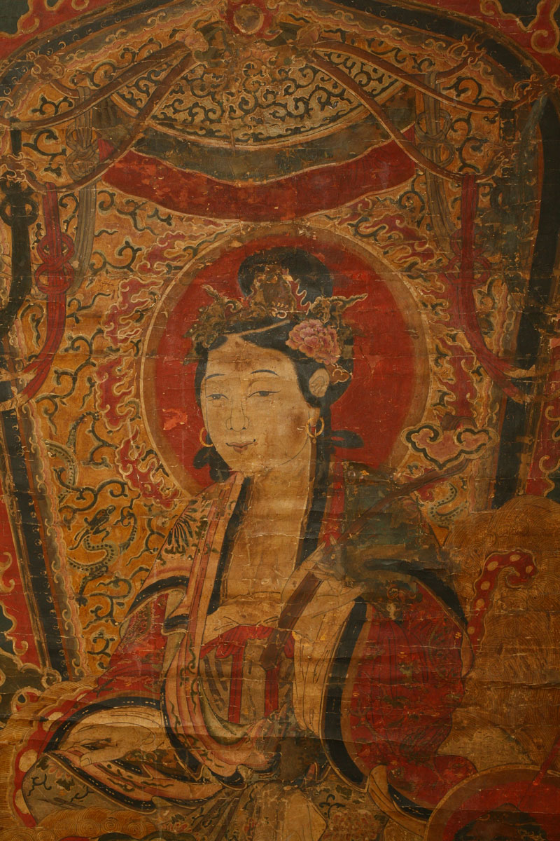 Painting of Guan Yin, China, 18th or 19th century.