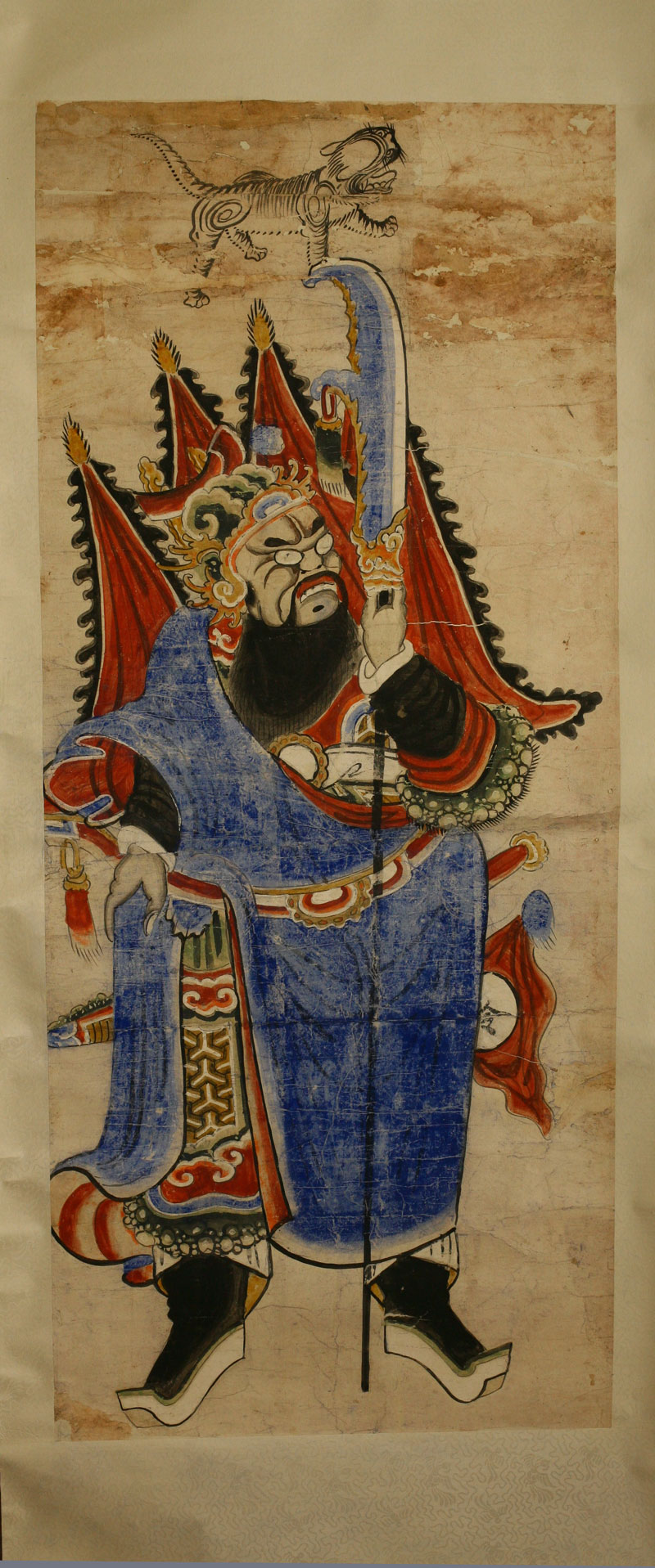 Painting of a legendary god, China, 19th century.