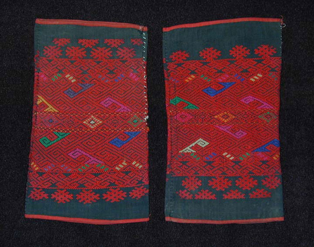 Chin cotton and wool leggings, Burma, early 20th century.
