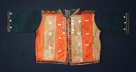 Chin cotton and wool jacket, Burma, early 20th century.