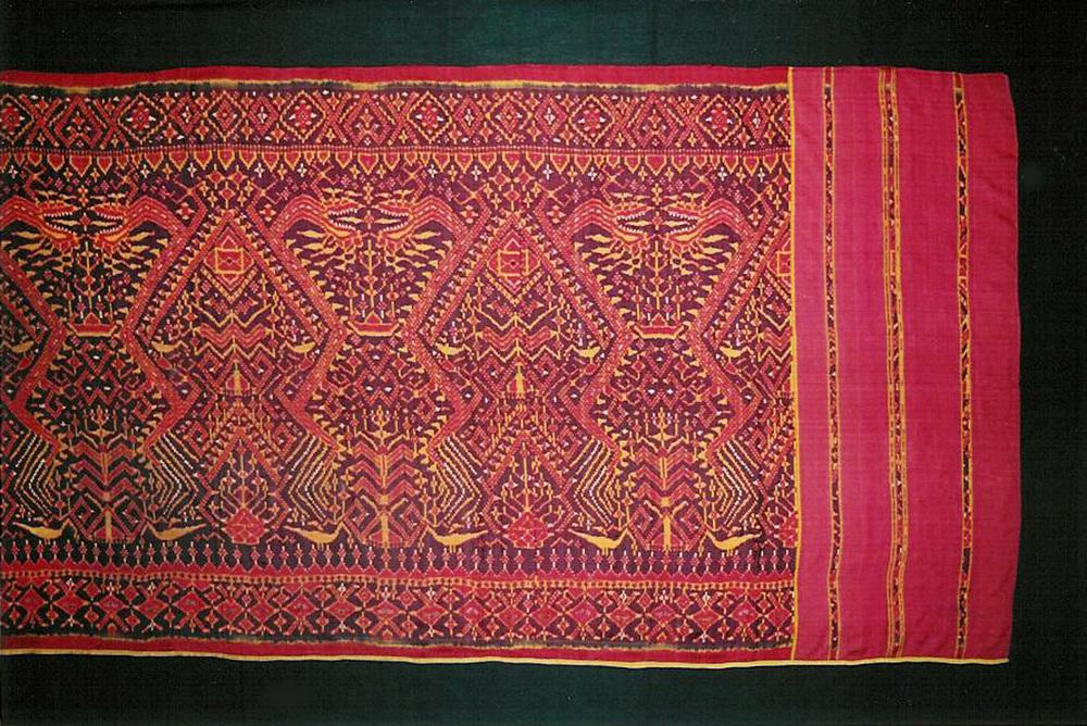 Silk ikat ship cloth, Cambodia, 19th century.