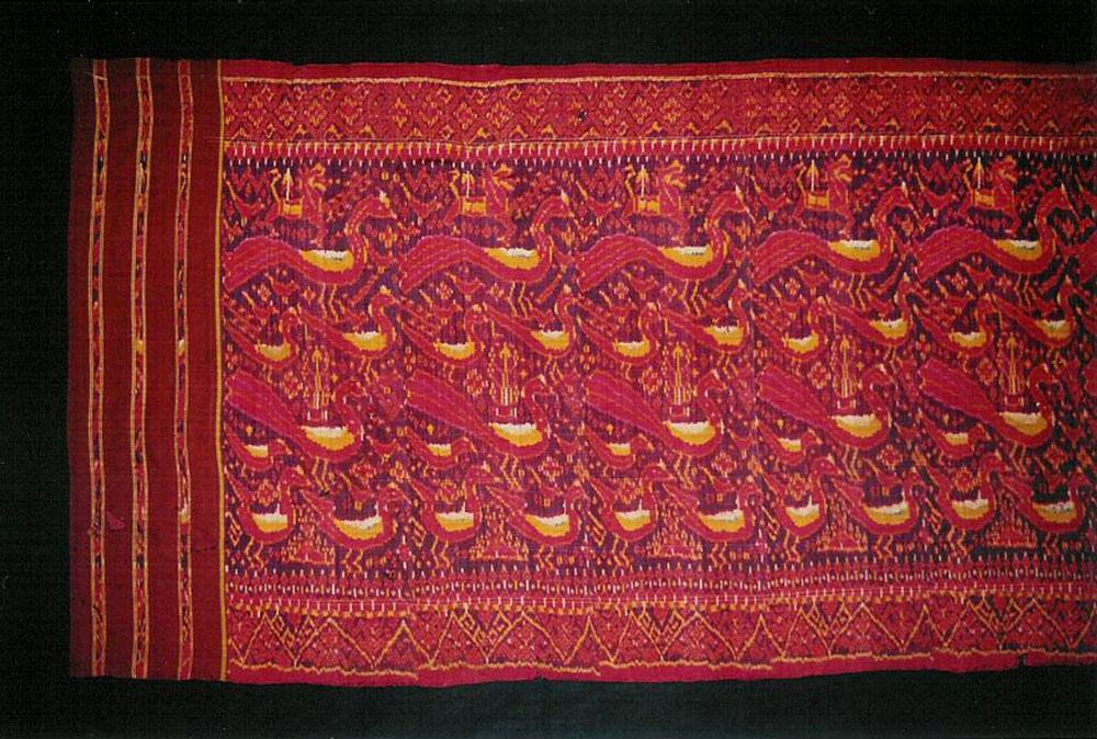 Silk ikat pidan, altar hanging, Cambodia, late 19th century.