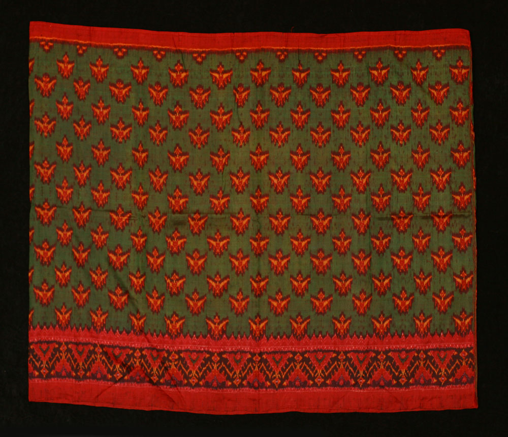 Silk ikat woman's skirt, samphot hol, circa 1930s-40s.