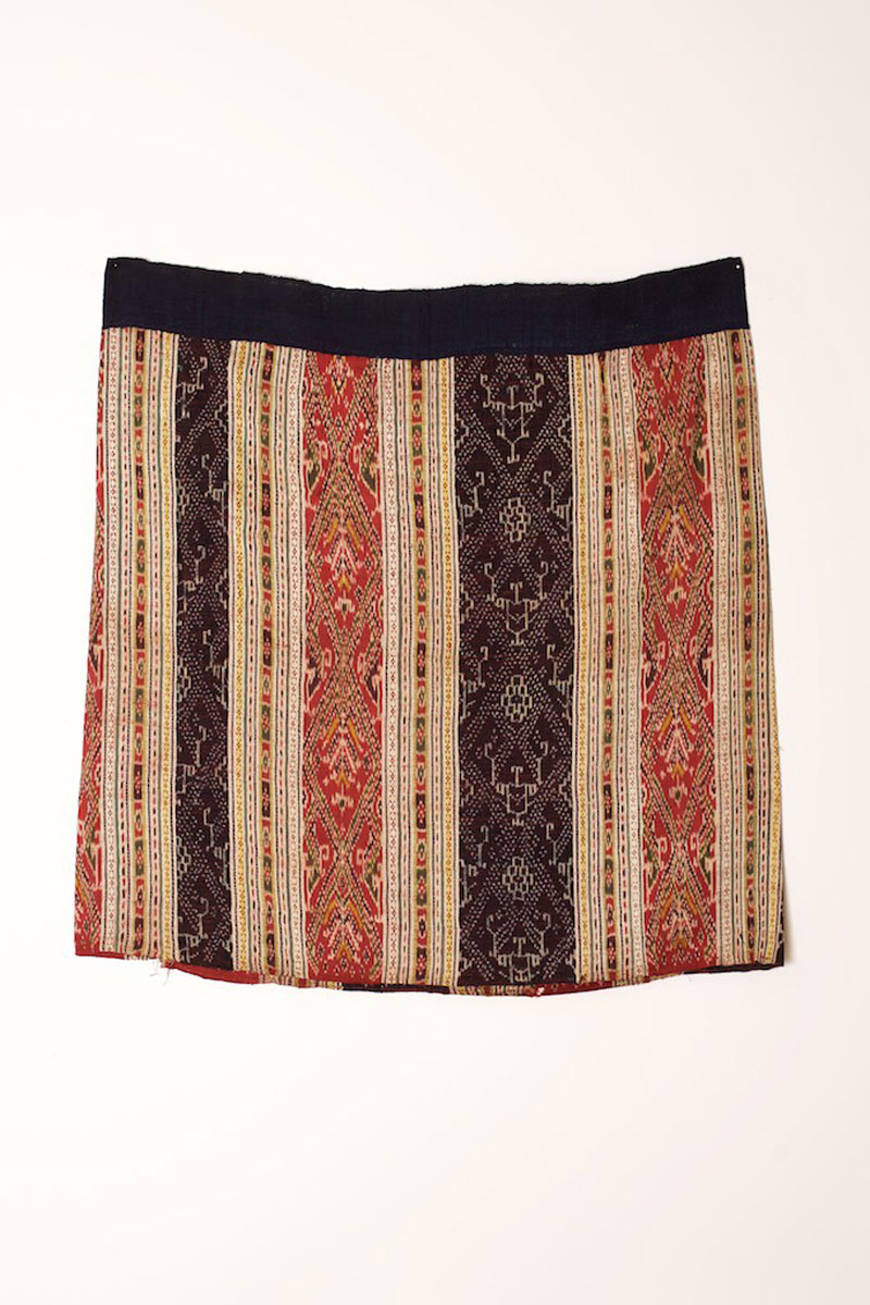 Tai cotton and silk skirt, northern Laos, late 19th century.