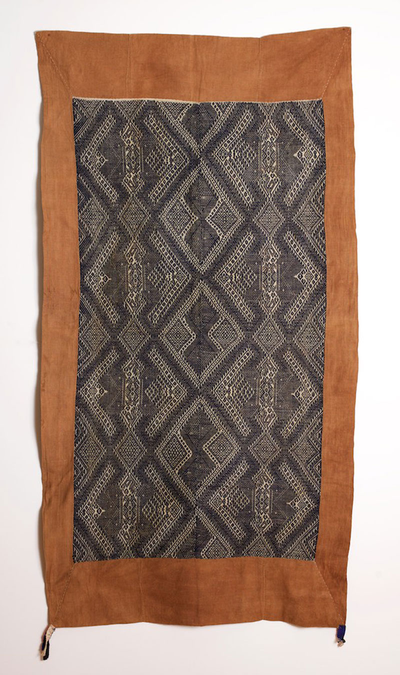Cotton blanket or sleeping mat, border region of northern Laos and Vietnam, early 20th century.