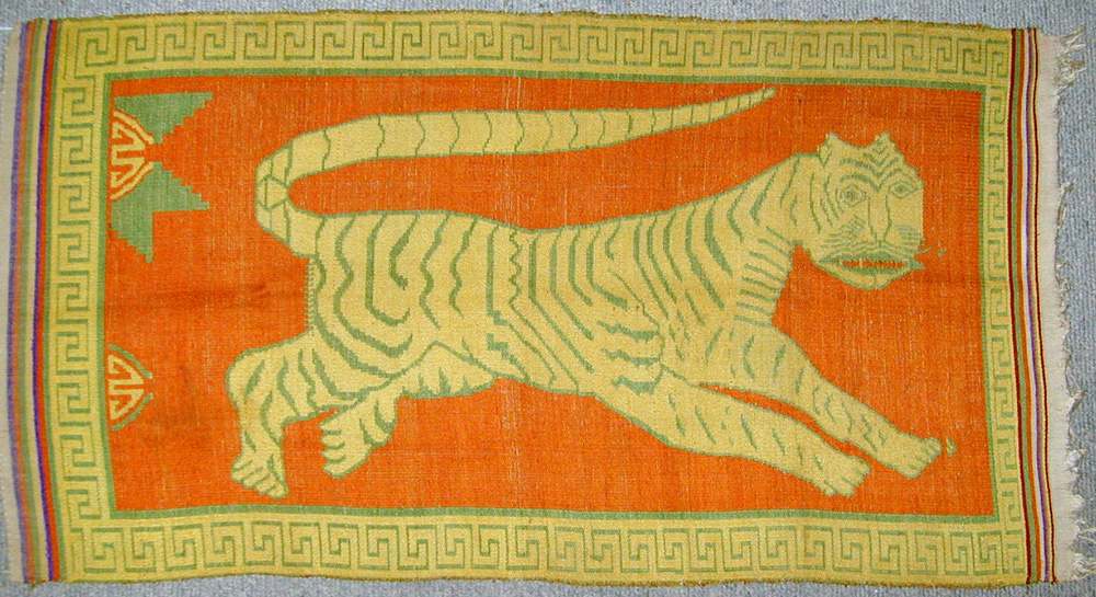 Tai silk and cotton blanket/hanging, northern Laos or northwest Vietnam, early 20th century.