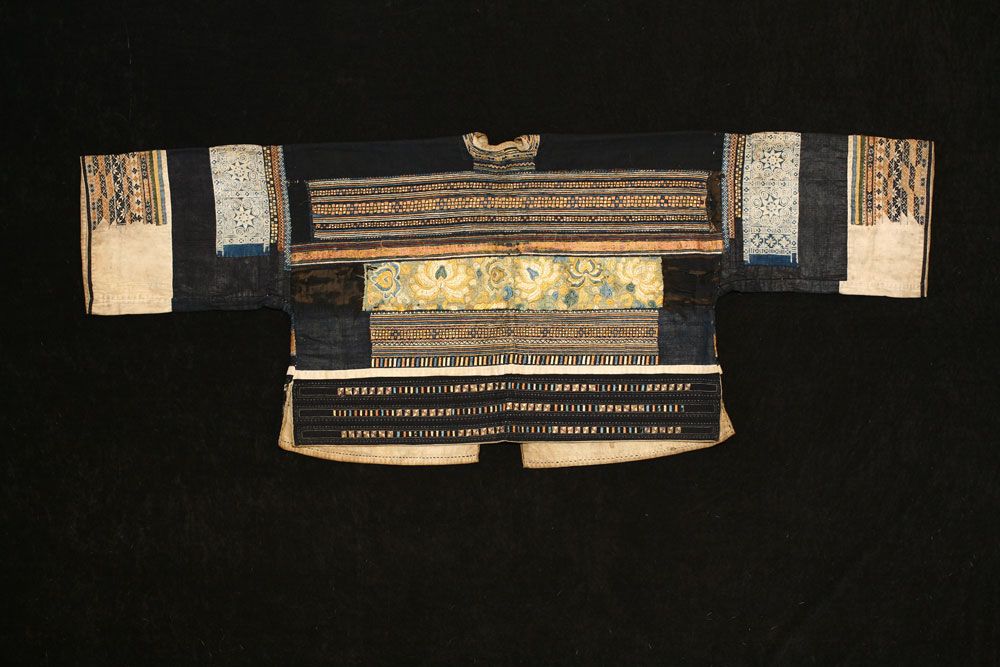 Danzai silk and cotton woman's jacket, Guizhou, China, 19th century.