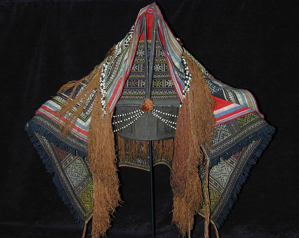 Yao headdress set, south China, early 20th century.